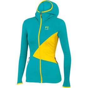 Karpos Nuvolau Fleece Jas Dames, bluebird/vibrant yellow